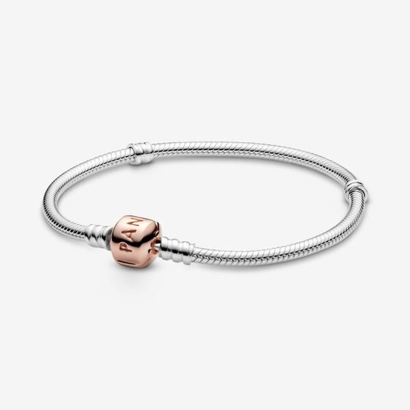 Pandora Moments Two-Tone Rose Gold Charm Bracelet